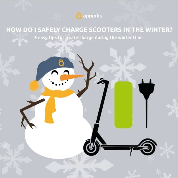 charge scooters safely during the winter